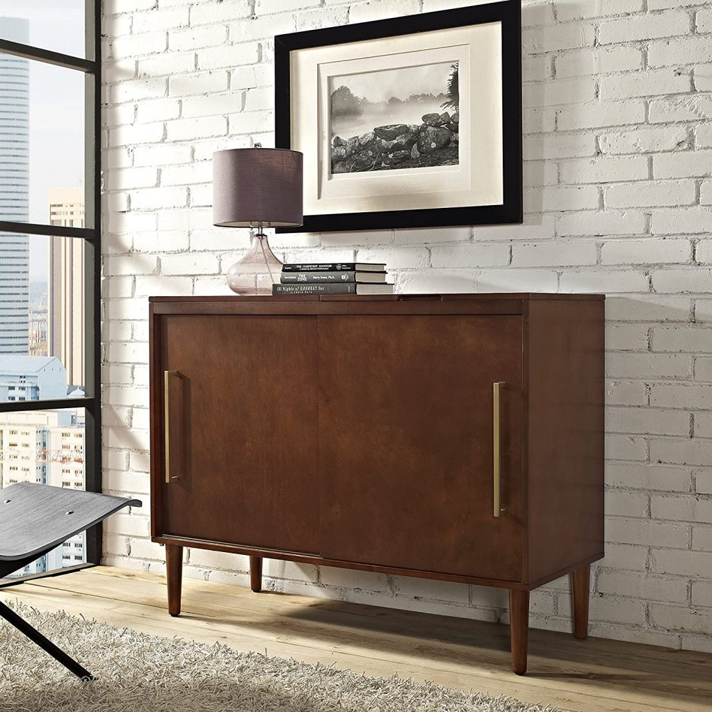 mid century modern record player cabinet for sale new